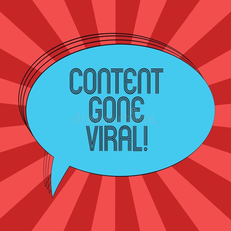 Escrevendo o índice da exibição da nota ido viral Relação video apresentando da imagem da foto do negócio que espalha rapidamente ilustração stock