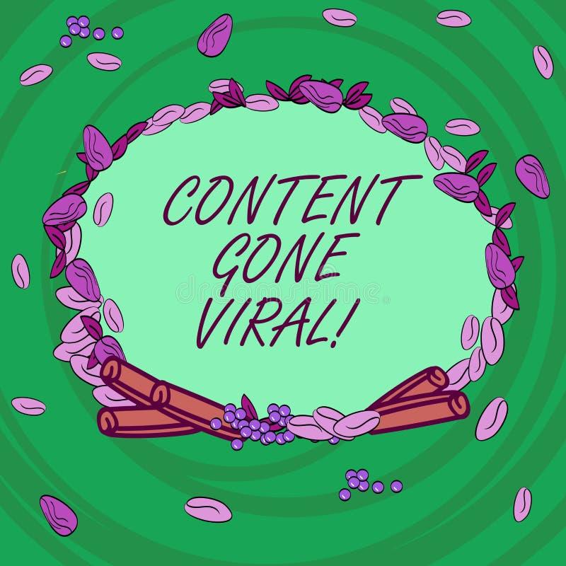 Escrevendo o índice da exibição da nota ido viral Relação video apresentando da imagem da foto do negócio que espalha rapidamente ilustração royalty free