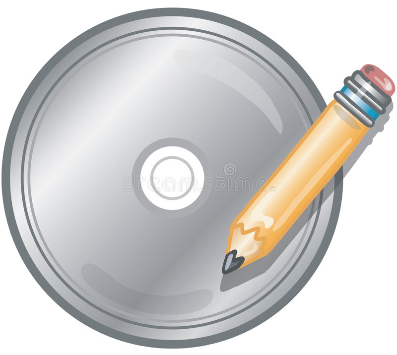 Escriba el icono CD libre illustration