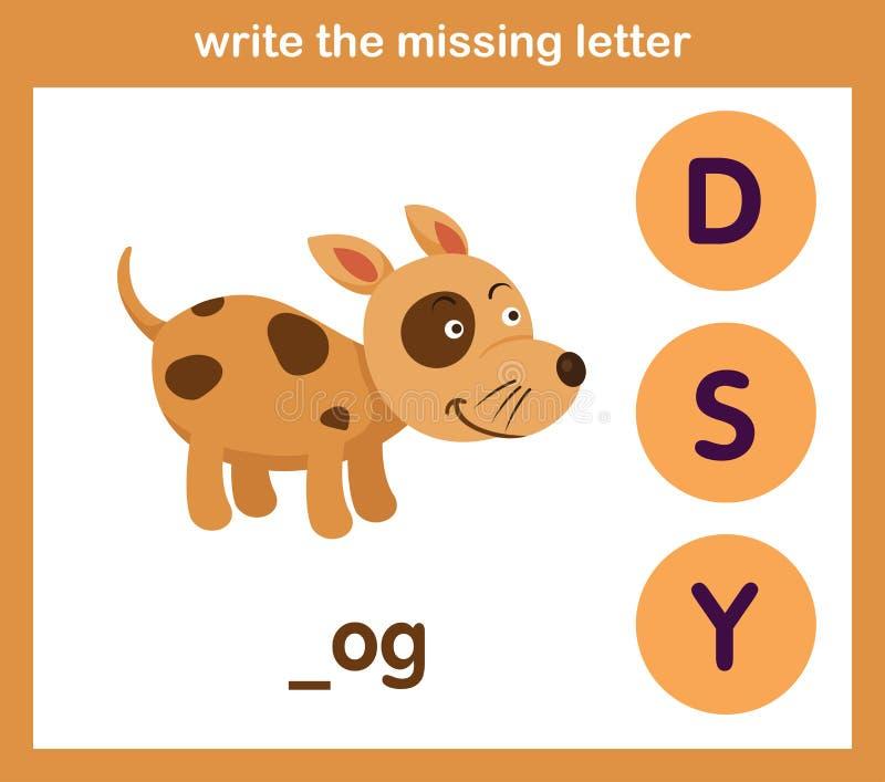 Escriba la letra que falta libre illustration