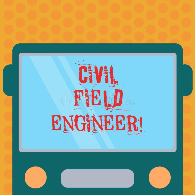 Escribiendo a demostración de la nota el técnico de mantenimiento civil La exhibición de la foto del negocio supervisa la constru ilustración del vector