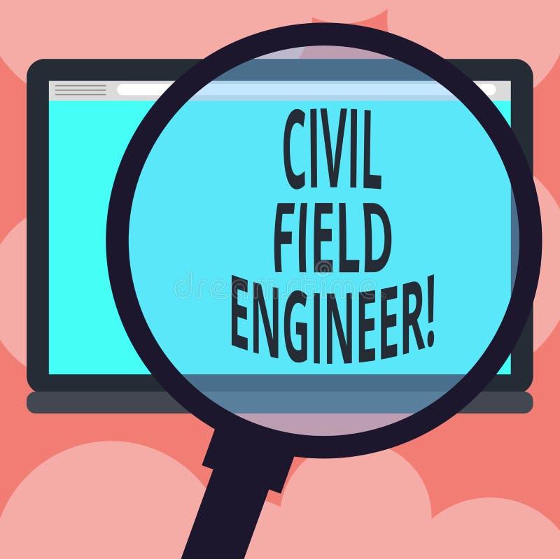 Escribiendo a demostración de la nota el técnico de mantenimiento civil La exhibición de la foto del negocio supervisa la constru libre illustration