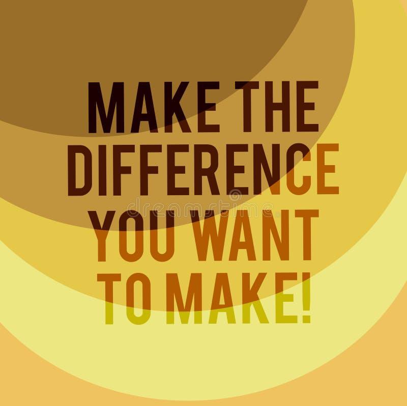 Escribiendo la demostración de la nota diferencie que usted quiere hacer Motivación de exhibición de la foto del negocio para un  libre illustration