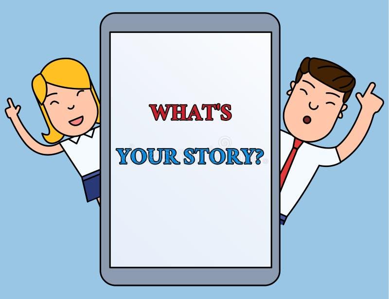 Escribiendo mostrar de la nota qué S es su Storyquestion Analysisner de exhibición de la foto del negocio de pedir que demuestra  libre illustration