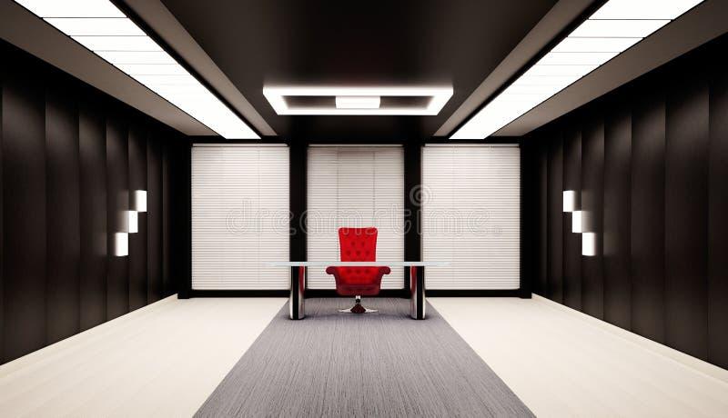 Escritório 3d interior ilustração royalty free