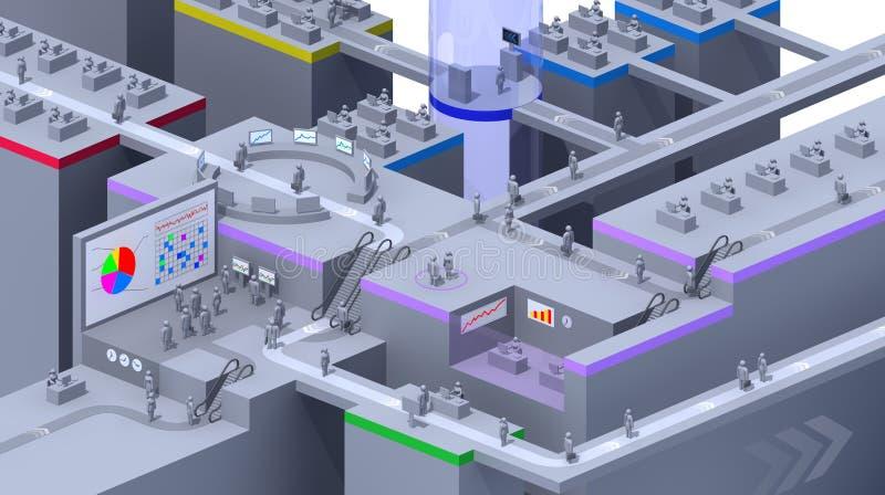 escritório 3D virtual ilustração stock