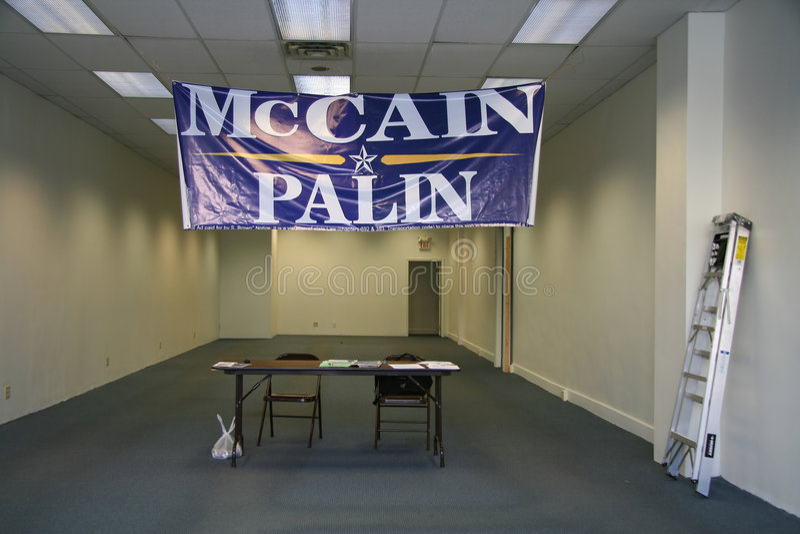 Escritório abandonado de McCain-Palin em Pittsburgh foto de stock