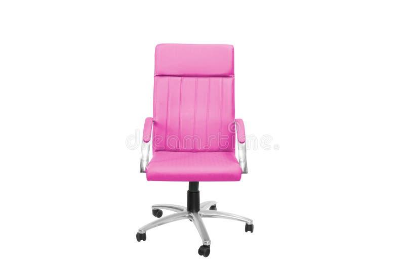 Escritório cinzento uma cadeira Objeto isolado do fundo foto de stock