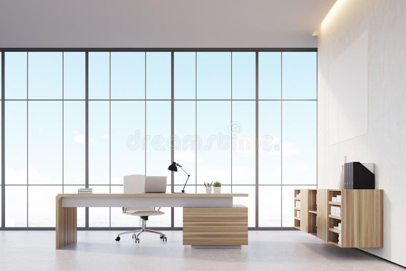 Escritório com janela panorâmico ilustração royalty free