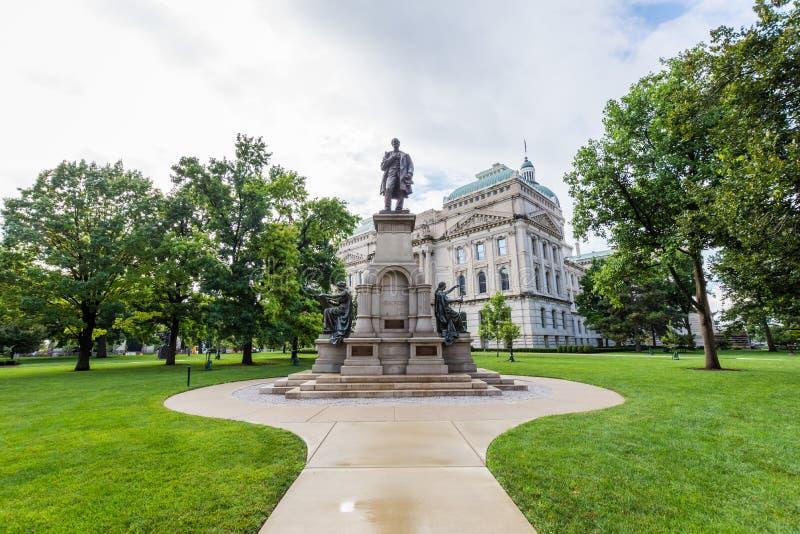 Escritório da excursão da casa do estado em Indianapolis Indiana During Summer fotos de stock royalty free