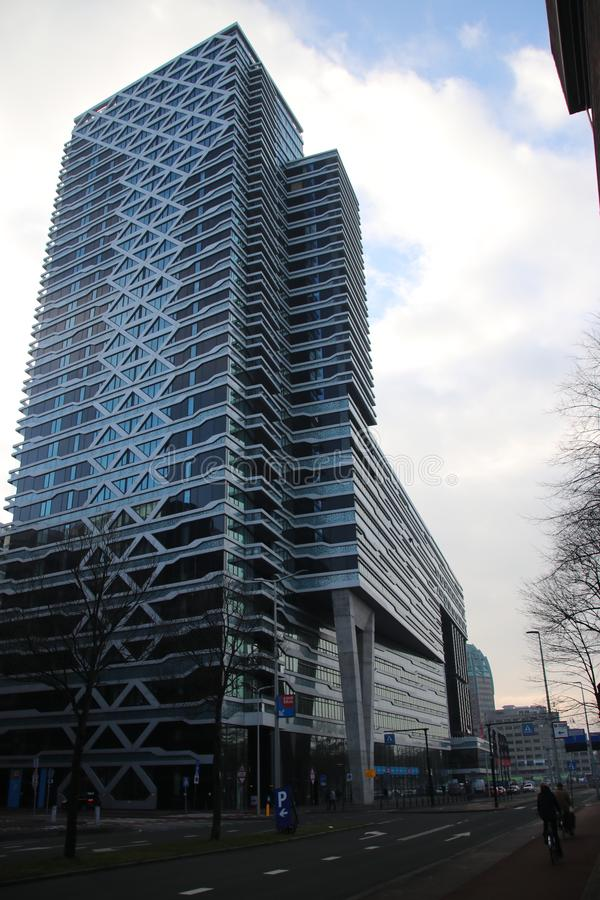 Escritório de Babylon na estação centraal em Den Haag nos Países Baixos foto de stock royalty free