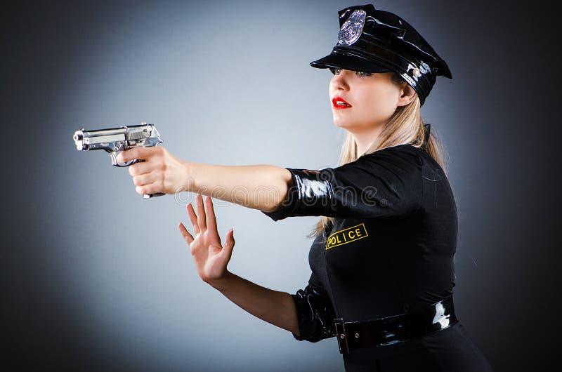 Escritório de polícia atrativo fotografia de stock