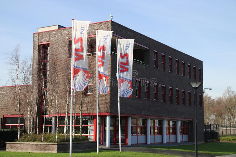 Escritório do groep de VLS em Zwijndrecht que os Países Baixos se especializaram em atividades de limpeza fotos de stock