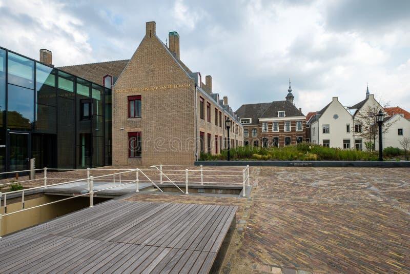 Escritório do Hoogheemraadschap, placa de água, camionete Delfland no th imagem de stock