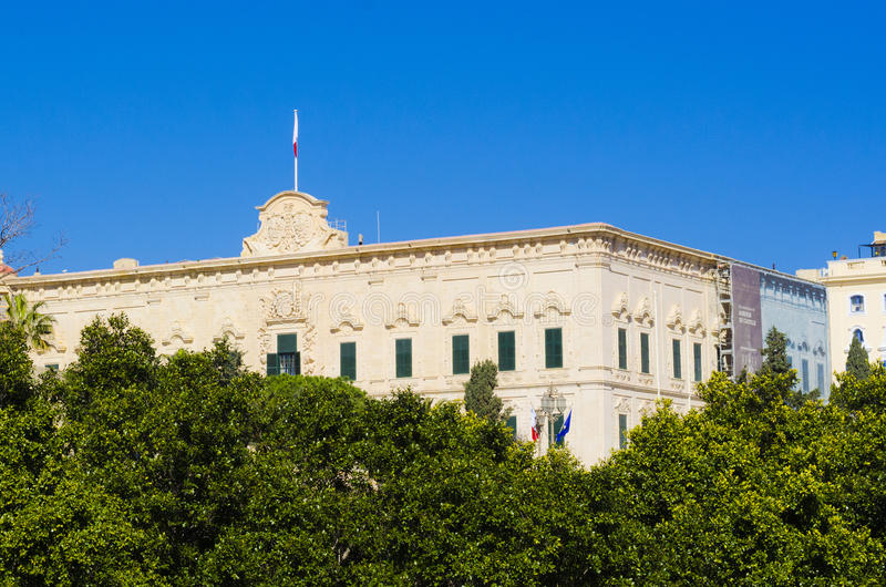 Escritório do primeiro ministro, Valletta Malta fotografia de stock royalty free
