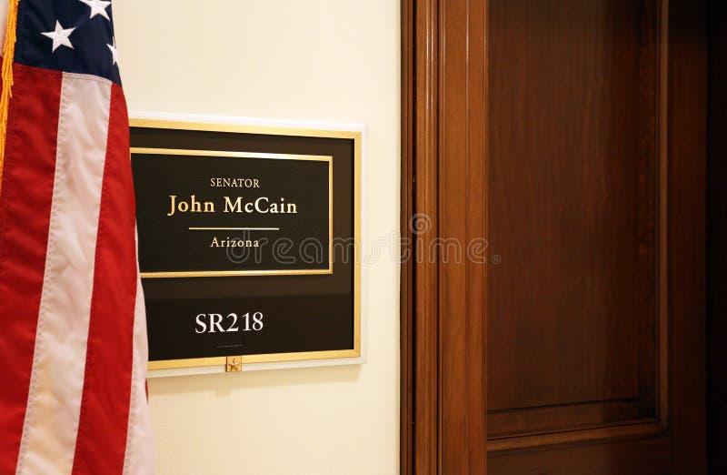 Escritório do senador John McCain fotos de stock royalty free