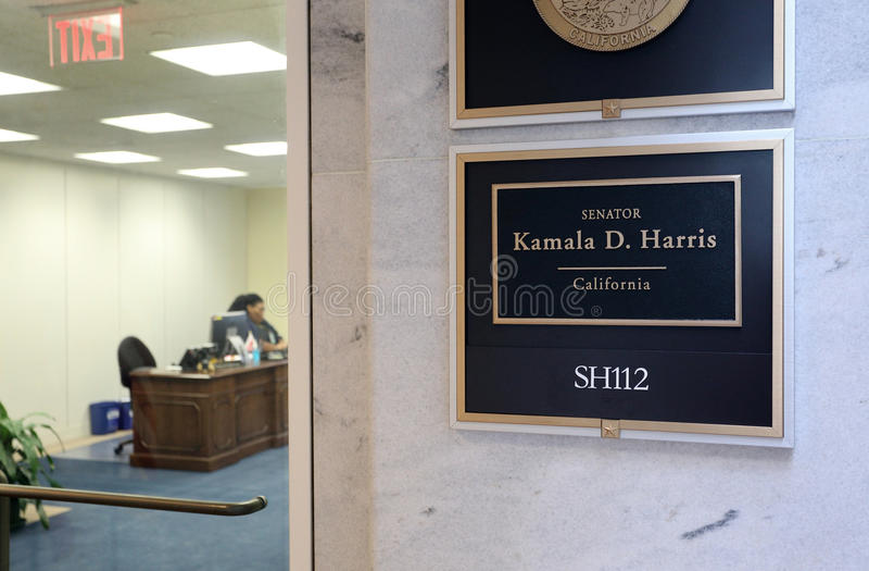 Escritório do senador Kamala Harris do Estados Unidos foto de stock royalty free