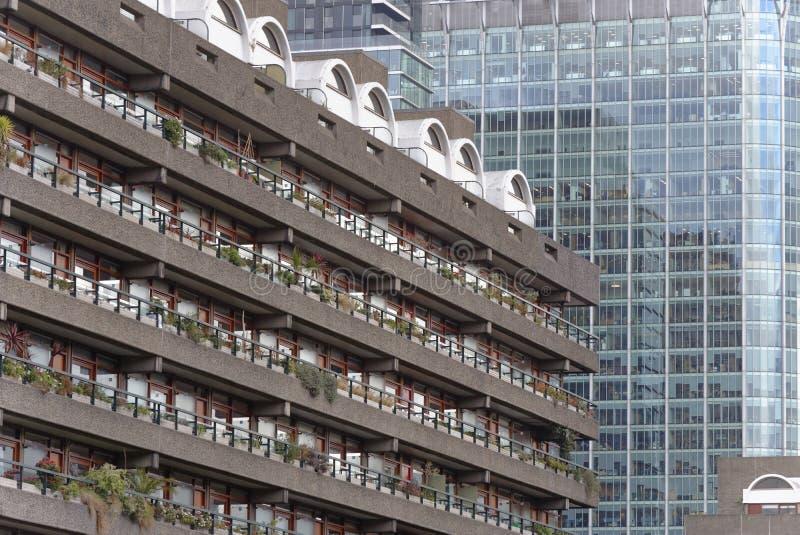 Escritório e prédios de apartamentos modernos imagem de stock royalty free