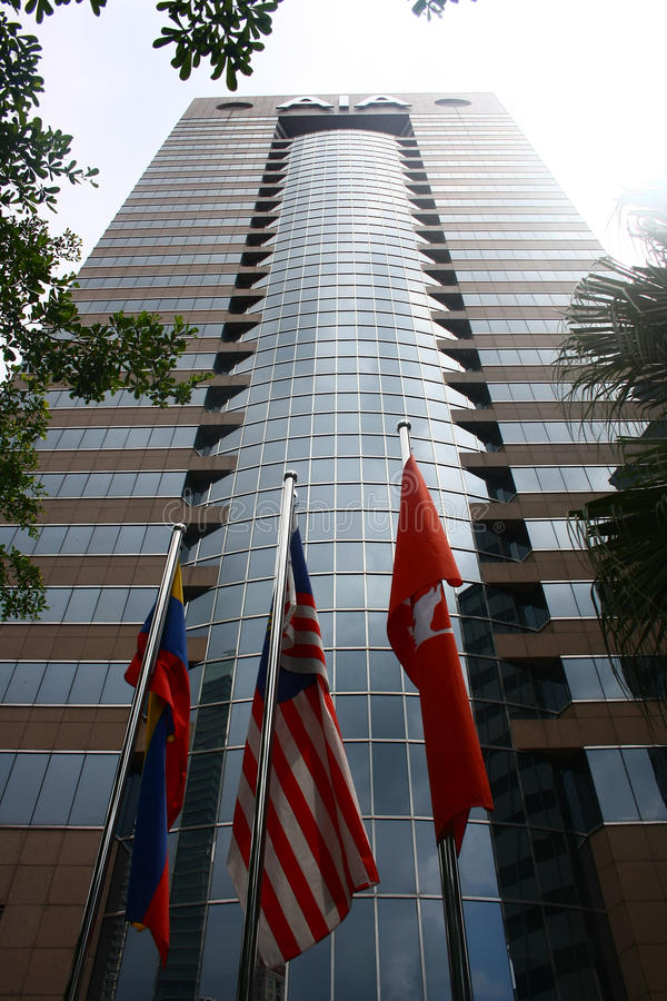Escritório empresarial de seguro de vida Malásia de AIA foto de stock