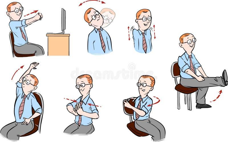 Escritório-exercício ilustração royalty free
