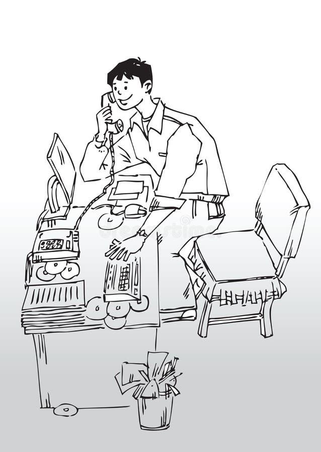 Escritório home de empresa de pequeno porte ilustração do vetor