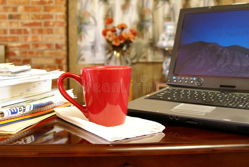 Escritório Home ocupado fotos de stock royalty free