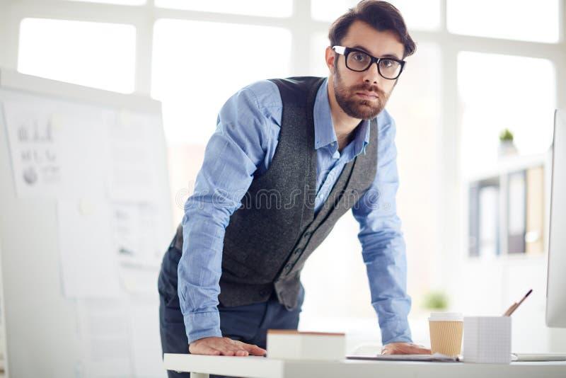 Escritório Manager fotografia de stock