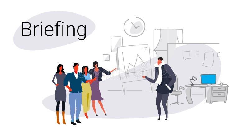 Escritório moderno do conceito da instrução da apresentação da carta de aleta da reunião da conferência do treinamento dos trabal ilustração do vetor