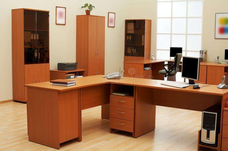 Escritório moderno e claro fotografia de stock