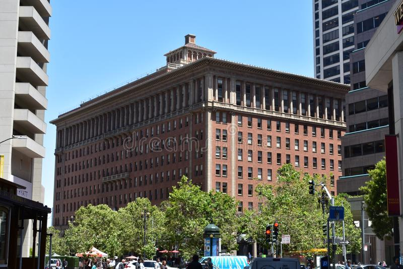 Escritório pacífico do sul de San Francisco do marco do ` s da estrada de ferro, 4 fotos de stock