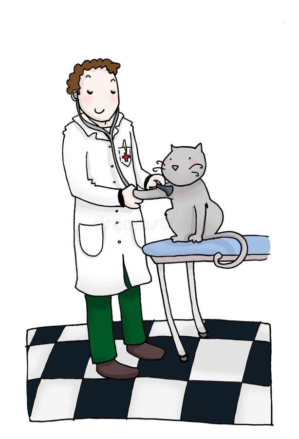 Escritório veterinário ilustração royalty free