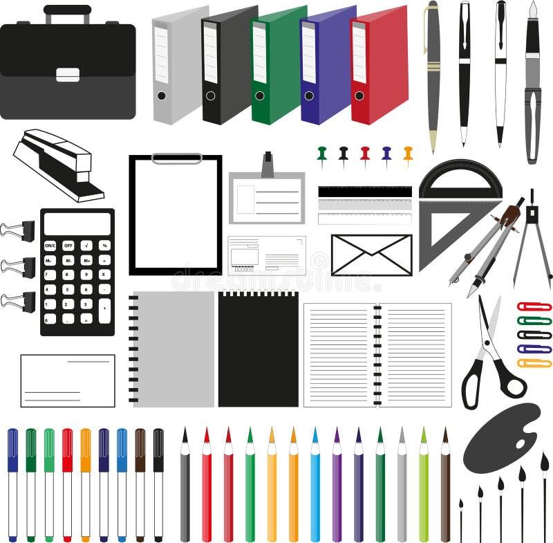 Escritórios ilustração stock