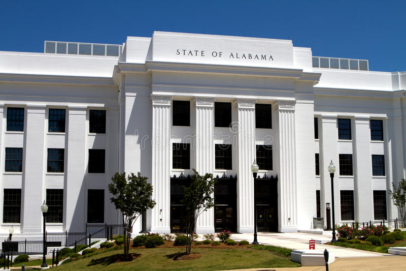Escritórios do estado de Alabama imagem de stock