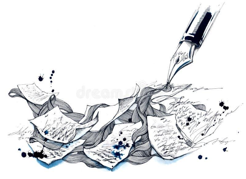 Escrita ilustração royalty free