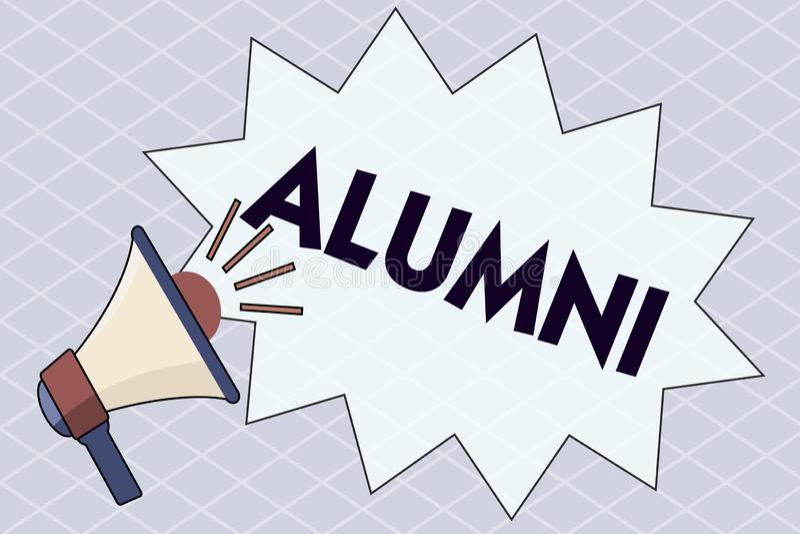 Escrita conceptual da mão que mostra alunos Aluno do texto da foto do negócio ou do estudante homem anterior um especialmente do  ilustração stock