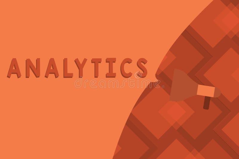 Escrita conceptual da mão que mostra a analítica Análise computacional sistemática do texto da foto do negócio de estatísticas do ilustração royalty free
