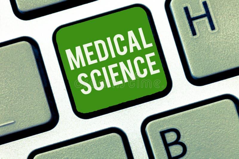 Escrita conceptual da mão que mostra a ciência médica Estudo apresentando do diagnóstico, tratamento da foto do negócio, e imagem de stock royalty free