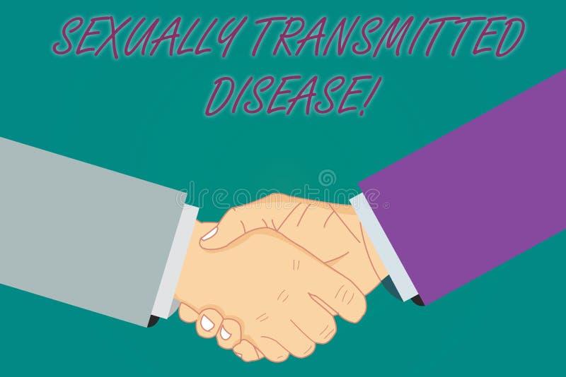 Escrita conceptual da mão que mostra a doença de transmissão sexual Doenças apresentando da foto do negócio espalhadas por sexual ilustração royalty free