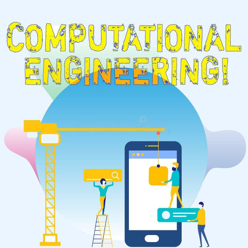 Escrita conceptual da mão que mostra a engenharia computacional Desenvolvimento e aplicação apresentando da foto do negócio ilustração royalty free