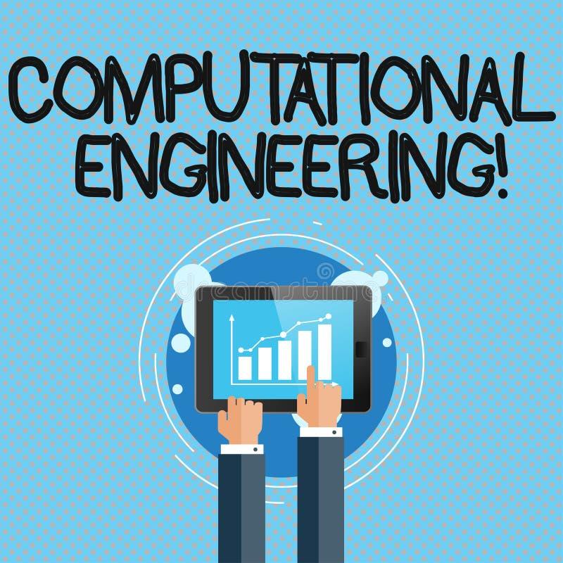 Escrita conceptual da mão que mostra a engenharia computacional Desenvolvimento e aplicação apresentando da foto do negócio ilustração stock