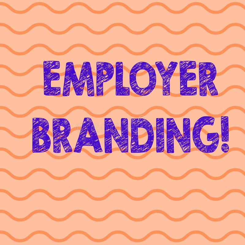 Escrita conceptual da mão que mostra a marcagem com ferro quente do empregador Foto do negócio que apresenta promovendo a escolha ilustração royalty free