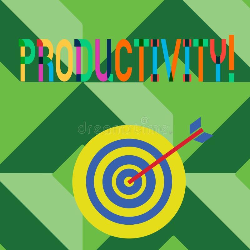 Escrita conceptual da mão que mostra a produtividade Sucesso do perforanalysisce do trabalho eficaz do texto da foto do negócio g ilustração do vetor