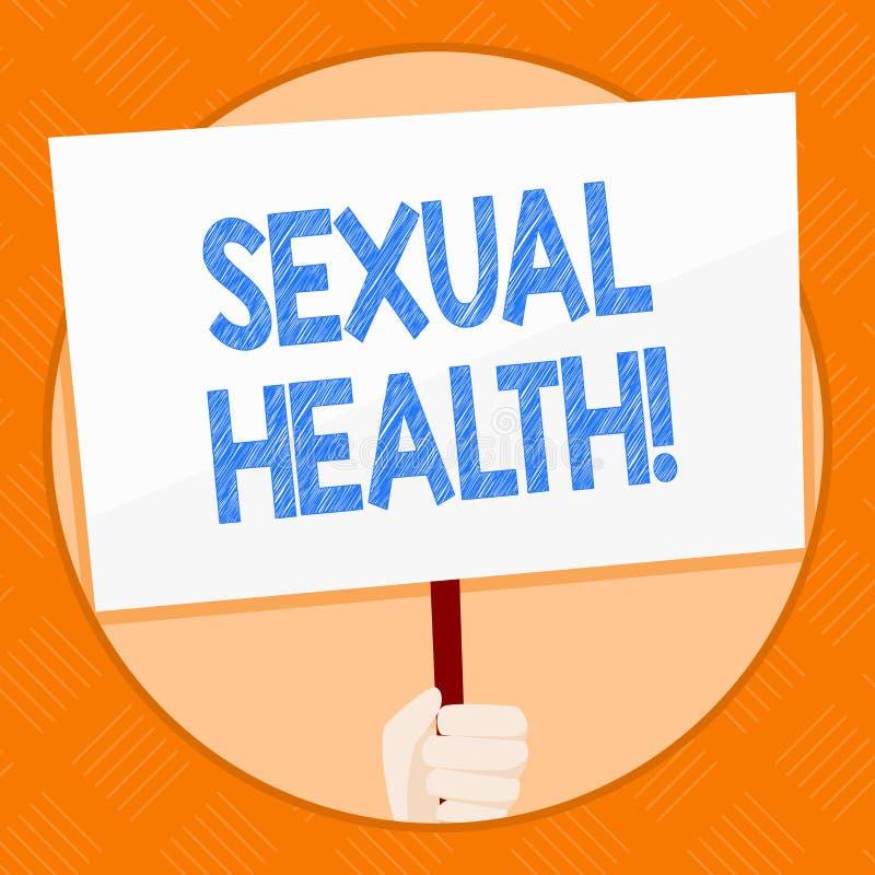 Escrita conceptual da mão que mostra a saúde sexual Foto do negócio que apresenta hábitos saudáveis da proteção do uso da prevenç ilustração royalty free