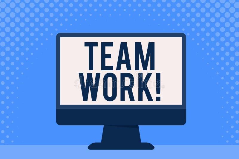 Escrita conceptual da mão que mostra Team Work Foto do negócio que apresenta a ação combinada do grupo especialmente quando efica ilustração do vetor