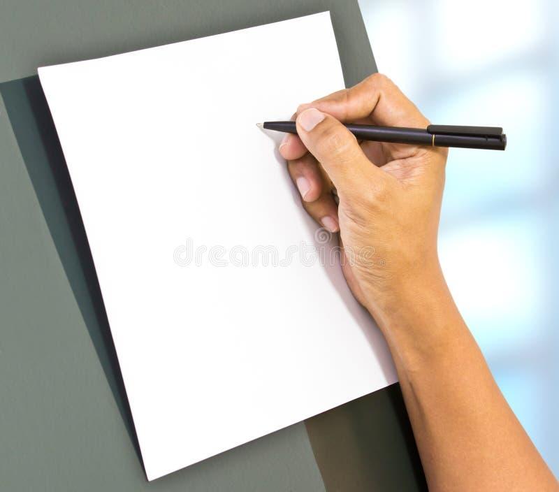 Escrita da mão foto de stock
