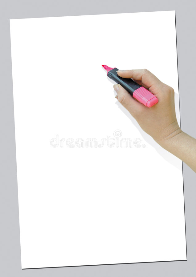 Escrita da mão imagens de stock