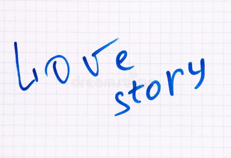 Escrita da palavra de Love Story imagens de stock royalty free