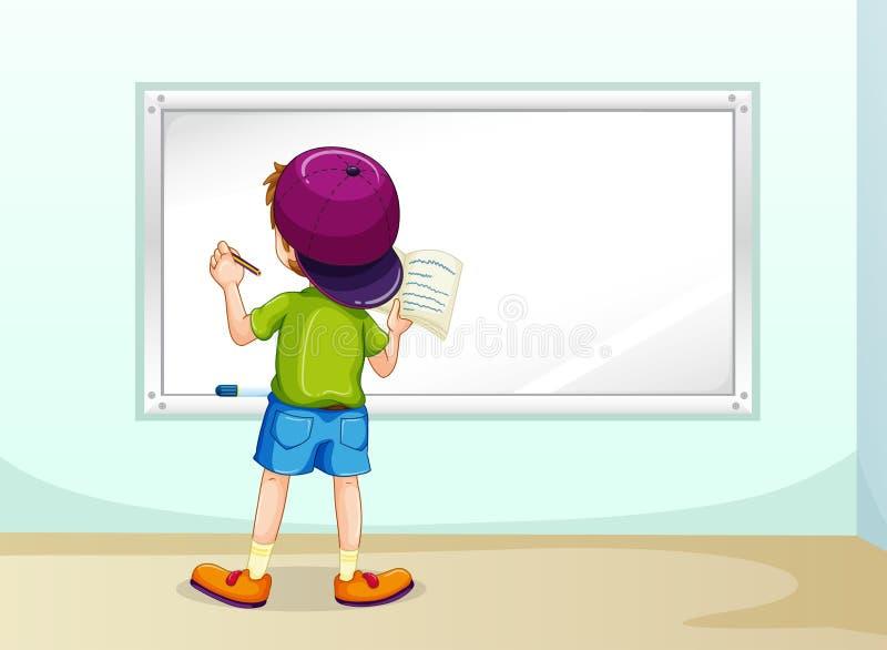 Escrita do menino ilustração do vetor