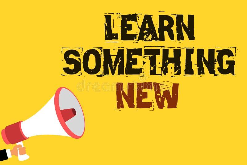 A escrita do texto da escrita aprende algo novo Significado do conceito que está sendo ensinado o conhecimento ou o esporte sujei ilustração do vetor