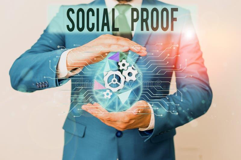 Escrita manual conceptual mostrando prova social Fotografia comercial mostrando influência social informativa Psicológica fotos de stock